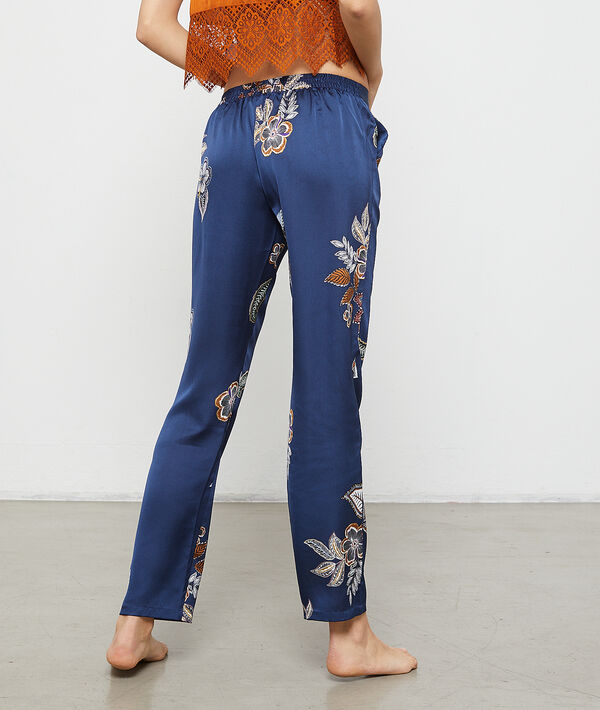 Pantalon imprimé fleuri