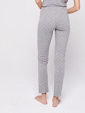 Pantalon noué à motifs étoiles anthracite.