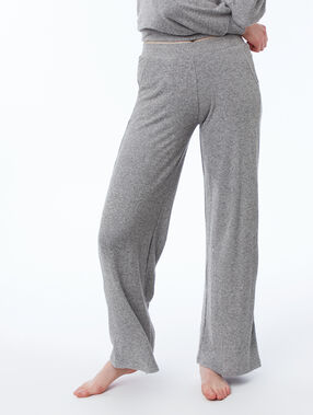 Pantalon homewear large gris.