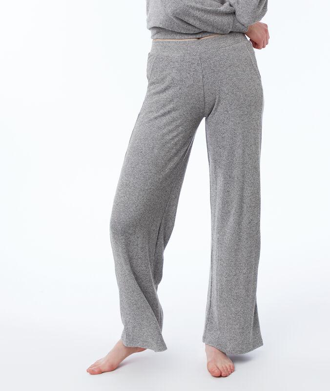 Pantalon homewear large gris.