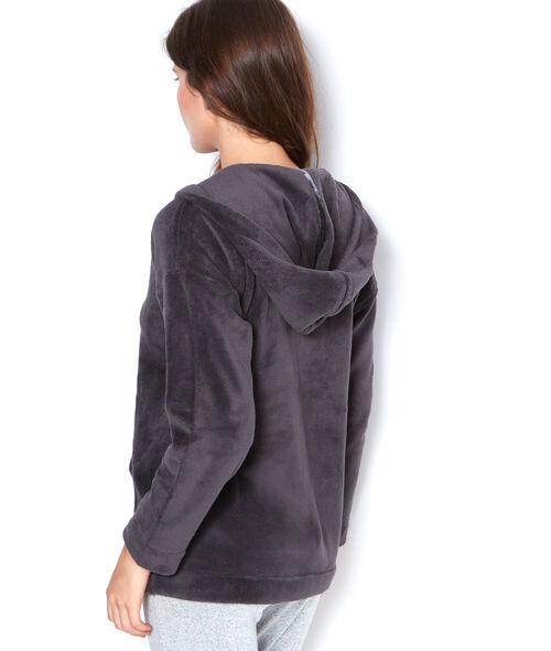 Veste d'intérieur zippée toucher peluche