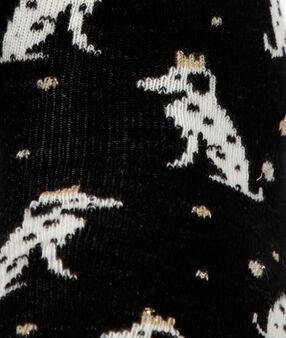 Chaussettes dalmatiens noir.