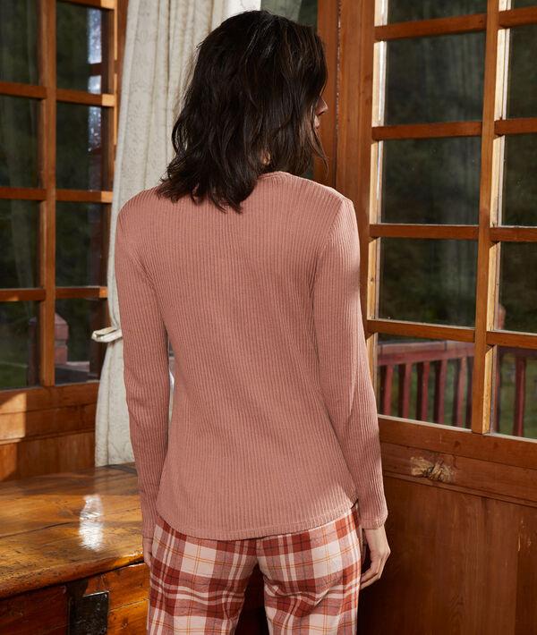T-shirt en coton bio côtelé