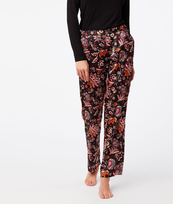 Pantalon large imprimé floral;${refinementColor}