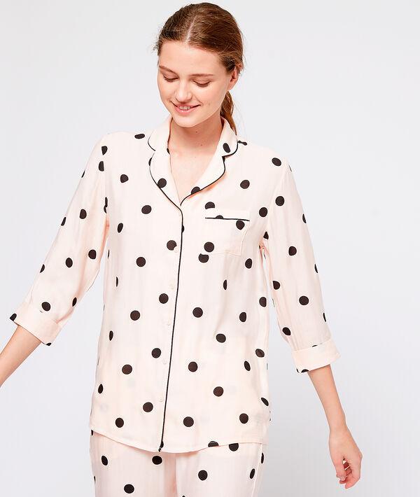 Chemise de pyjama à pois