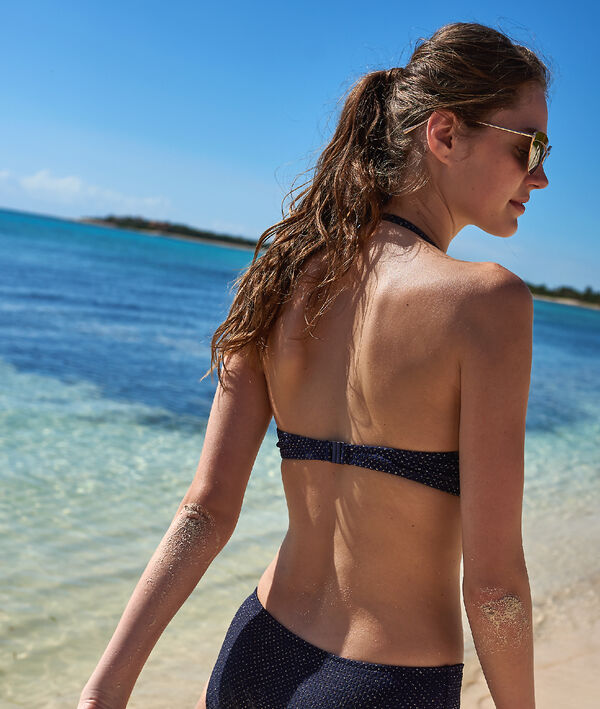 Haut de maillot de bain push-up irisé