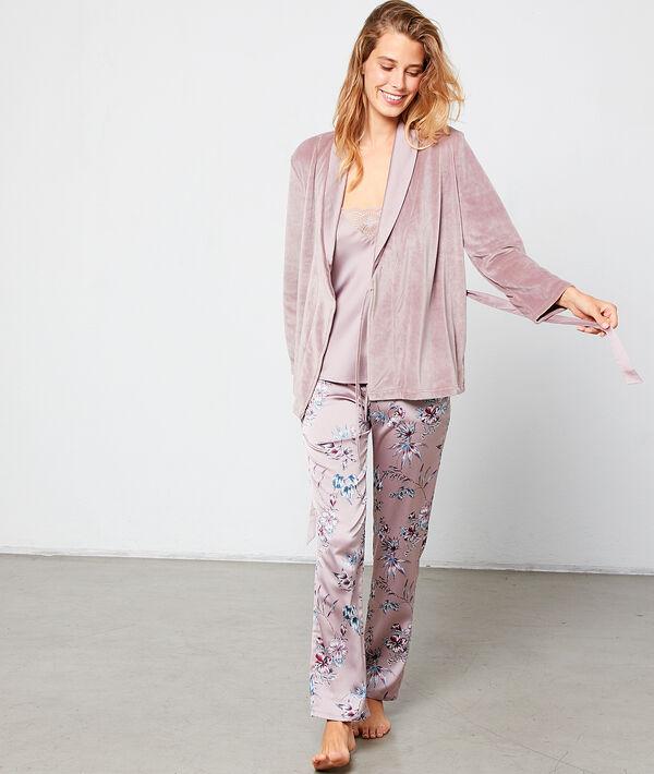 Pyjama 3 pièces satiné