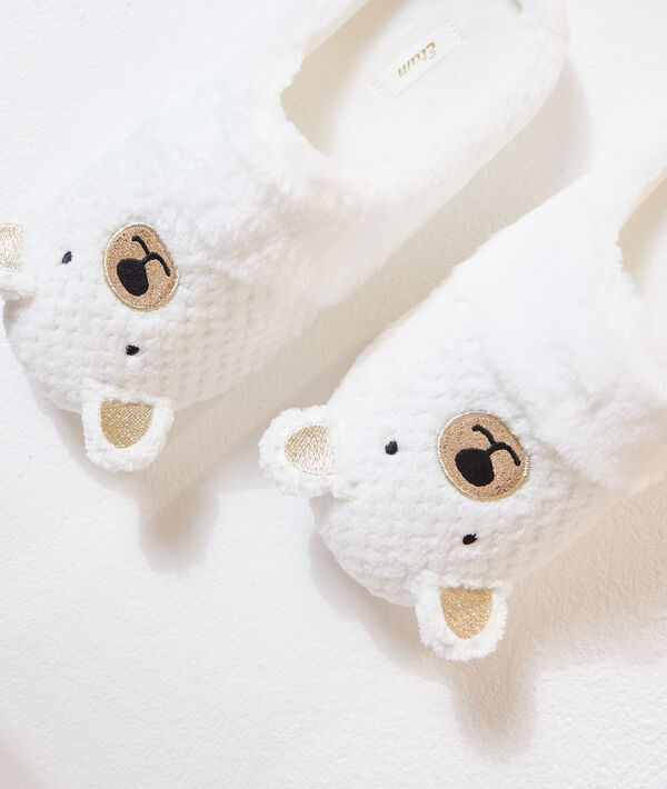 Chaussons mules ours;${refinementColor}