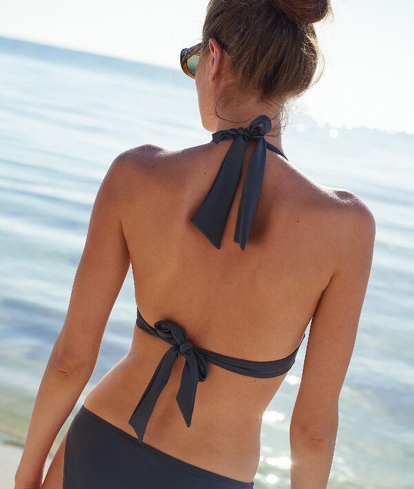 Haut de maillot de bain triangle, détails œillets