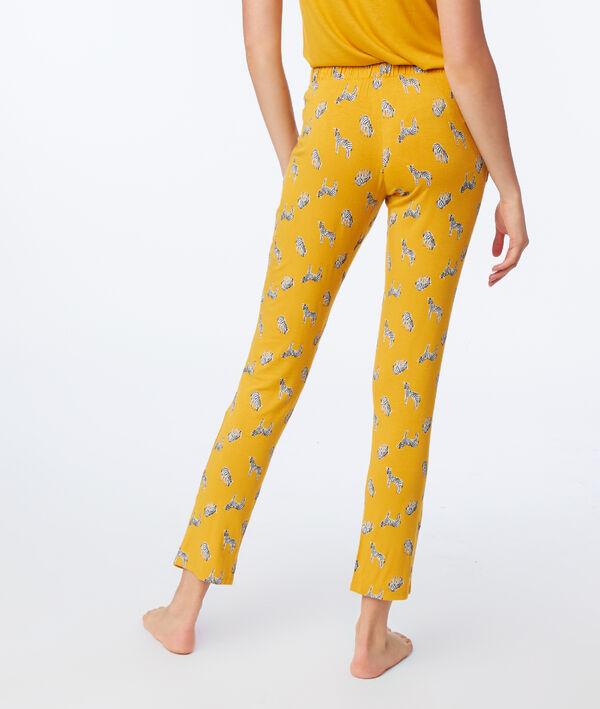 Pantalon de pyjama imprimé zèbres