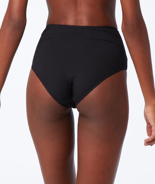 Culotte taille haute bi-matière