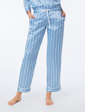 Pantalon de pyjama satiné à rayures oxygene.