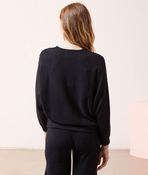 Top côtelé loungewear;${refinementColor}