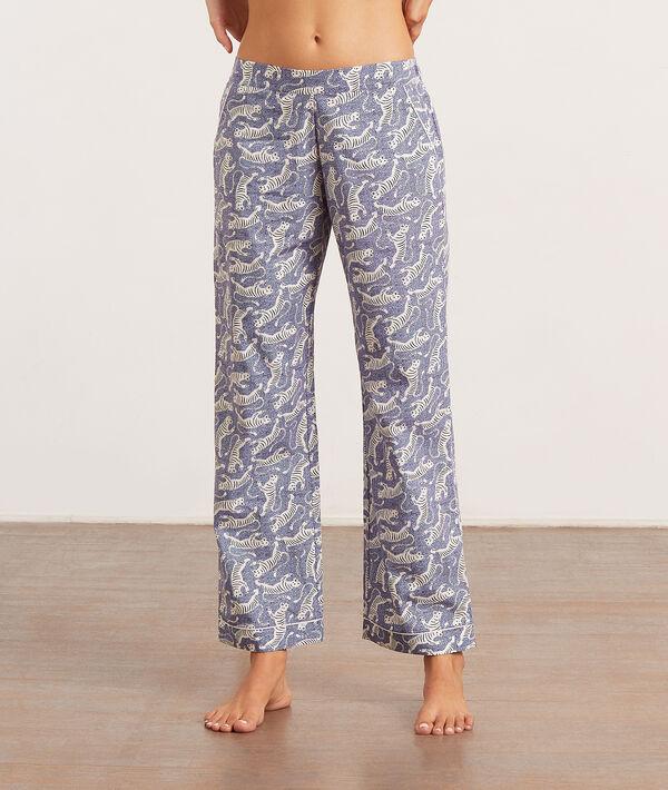 Pantalon de pyjama imprimé tigres;${refinementColor}