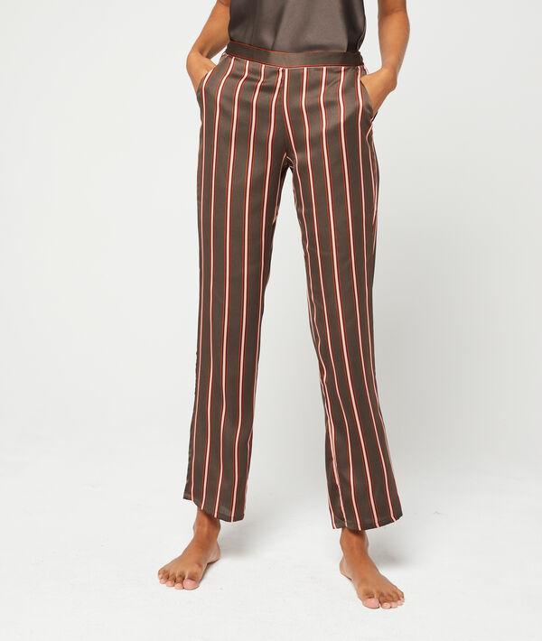 Pantalon satiné à rayures
