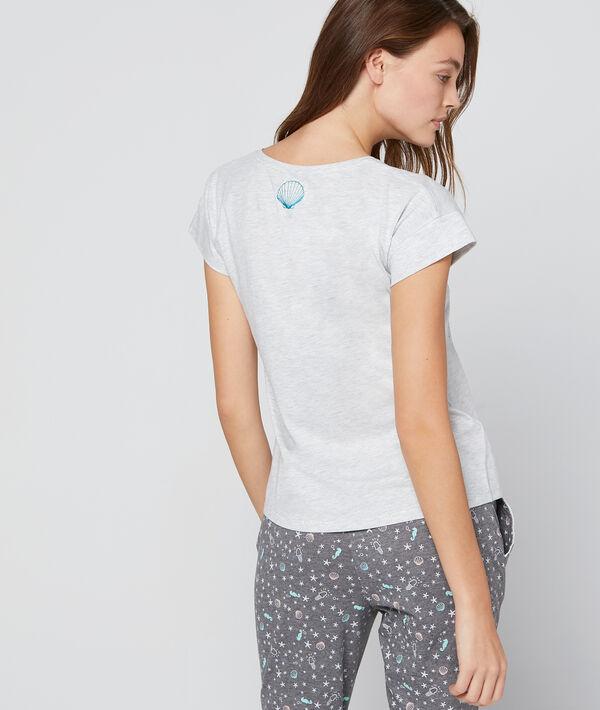 T-shirt imprimé et sequins à message
