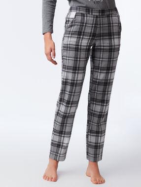 Pantalon à carreaux anthracite.