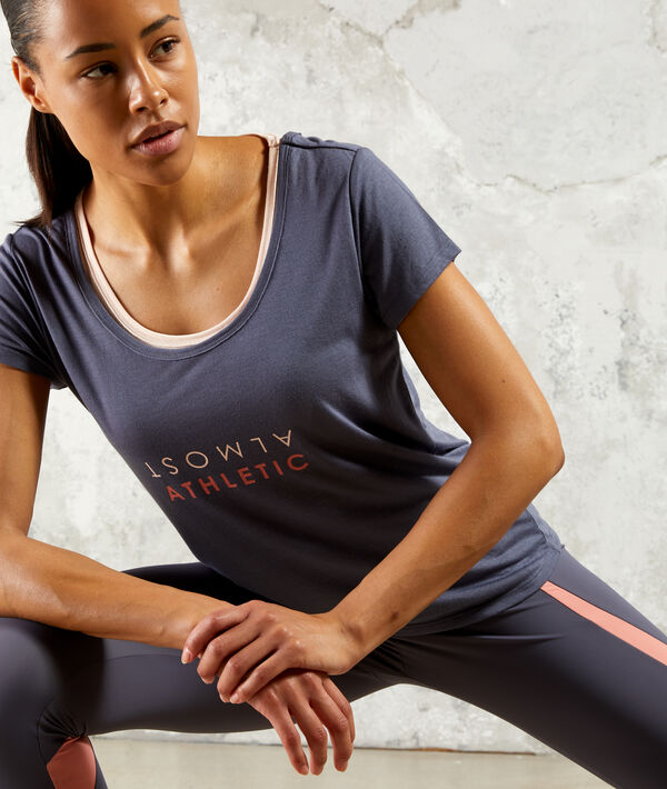 T-shirt de training, débardeur intégré