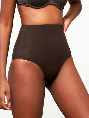 Culotte taille haute - niveau 3 : silhouette remodelée chocolat.