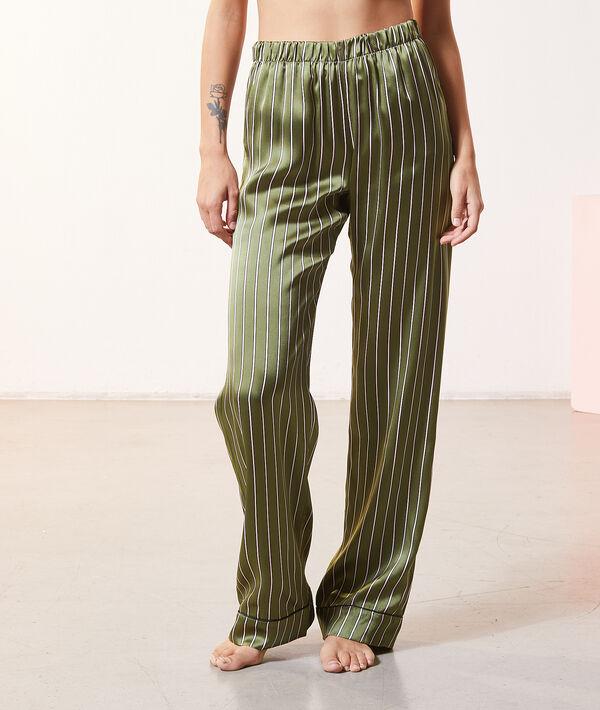 Pantalon de pyjama en soie;${refinementColor}