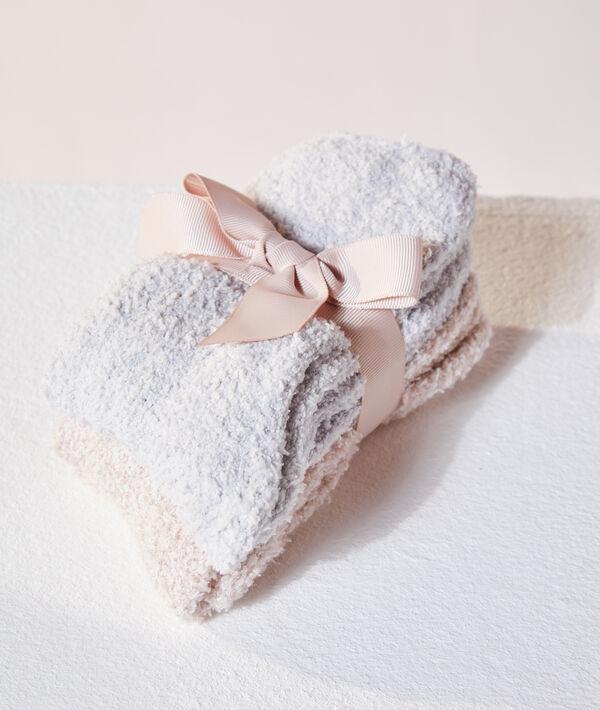 Lot de 2 paires de chaussettes douillettes;${refinementColor}