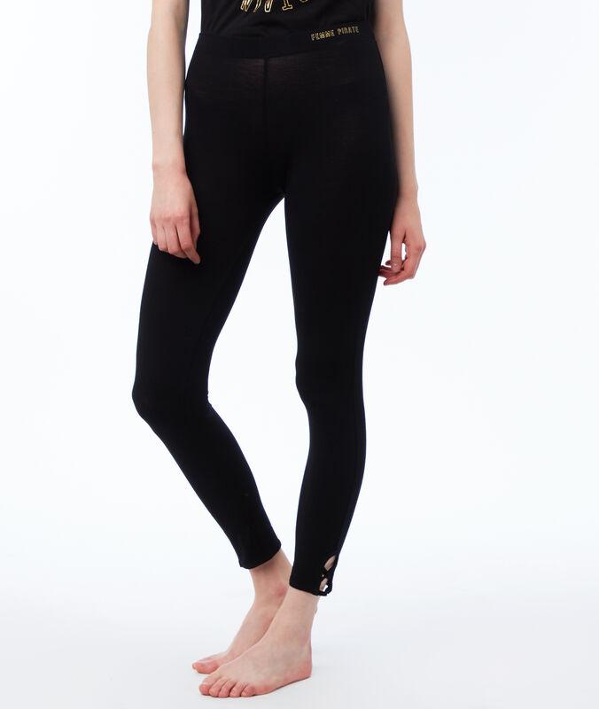Pantalon leggings noir.