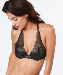 Soutien-gorge n°3 - triangle push up or.