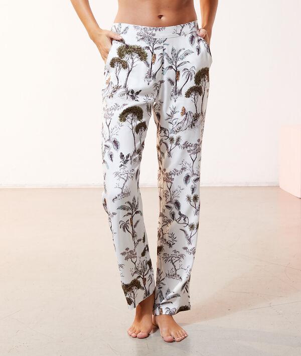 Pantalon de pyjama imprimé paysage;${refinementColor}