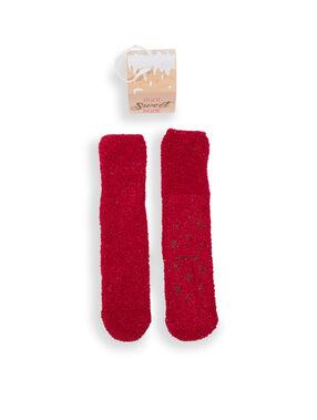 Boite à chaussettes antidérapantes rouge.