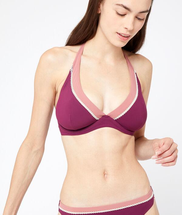 Haut de maillot de bain corbeille bicolore