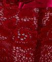 Tanga dentelle florale et satinée