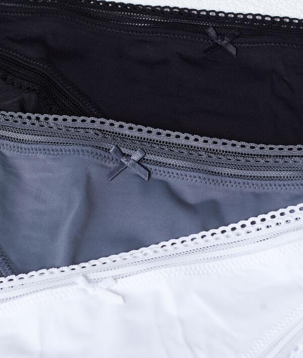 Pack de 3 culottes, bords ajourés;${refinementColor}