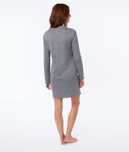 Chemise de nuit homewear avec fausse fourrure