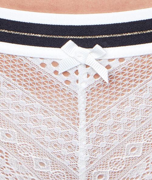 Culotte en dentelle avec bande élastique imprimé