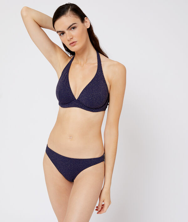 Bas de bikini simple irisé