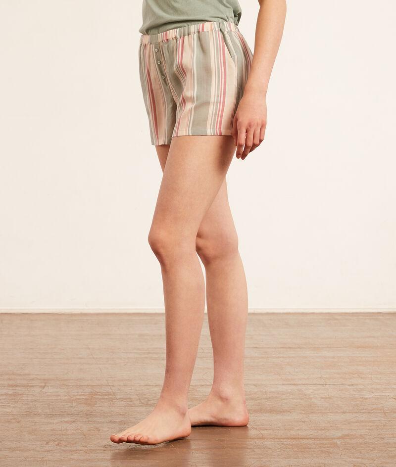 Short de pyjama rayé;${refinementColor}
