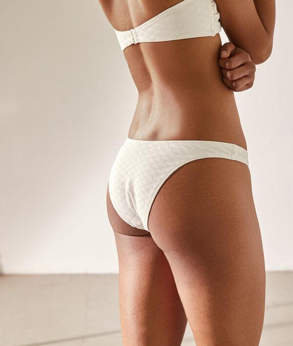 Bas de bikini high leg, texturé