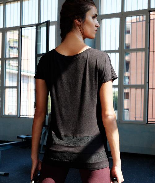 T-shirt à empiècement résille