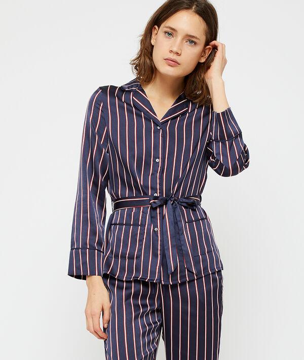 Chemise de pyjama à nouer;${refinementColor}
