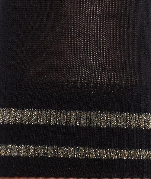 Chaussettes avec bande en fibres métallisées