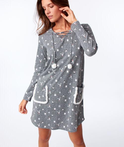 Chemise de nuit à poches
