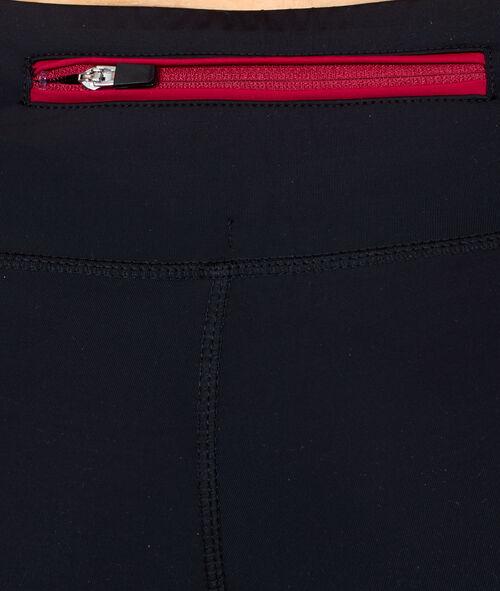Pantalon ultra-strech, empiècements résille termo-régulateur, détails réfléchissants