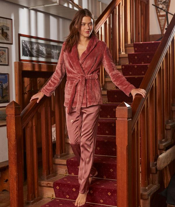 Pyjama 3 pièces à détails métallisés