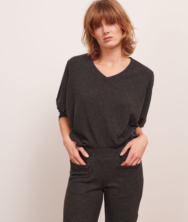 Top manches longues loungewear;${refinementColor}