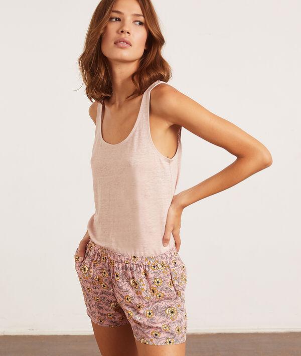 Débardeur de pyjama 100% lin;${refinementColor}