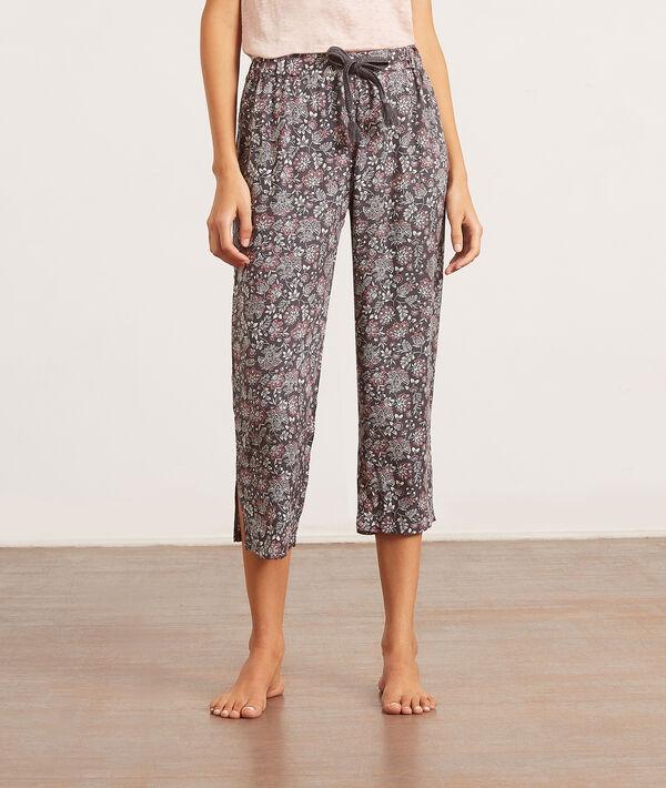 Pantalon de pyjama imprimé fleurs;${refinementColor}