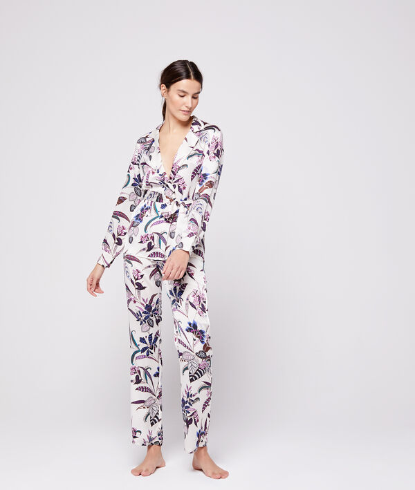 Chemise de pyjama ceinturée