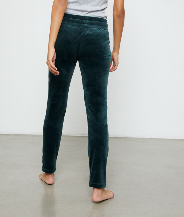 Pantalon effet velours
