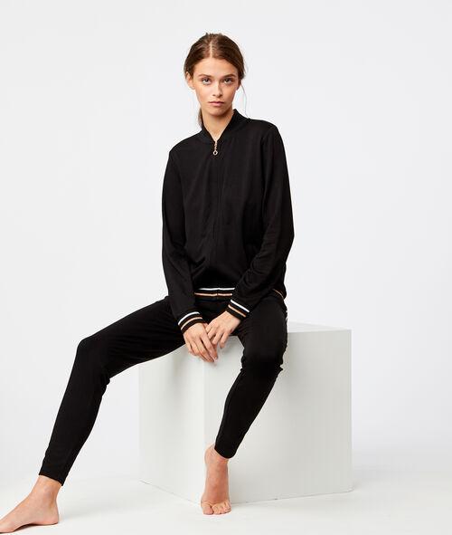 Veste homewear à bandes contrastées