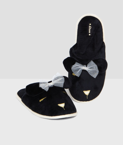 Chaussons animaliers velours 3d